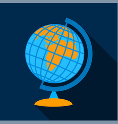 Globe icon flat style vector