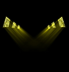 gold stage lights background vector image vector image
