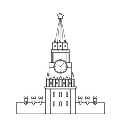 Kremlin icon in outline style isolated on white vector image vector image
