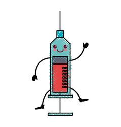 Medical injection kawaii character vector
