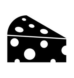 Piece cheese vector