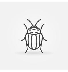 Potato or colorado bug logo vector