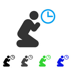 Pray time flat icon vector