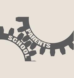 School and parents concept vector