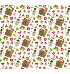 Seamless pattern with Christmas elements vector image