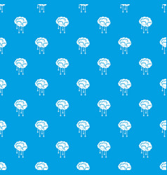 sensors on human brain pattern seamless blue vector image vector image