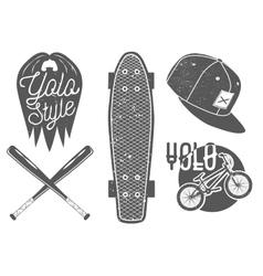 set of vintage sport labels emblems logo vector image vector image