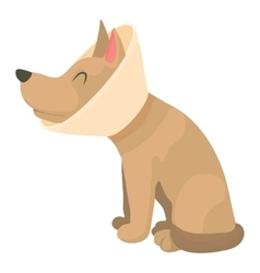 Sick dog icon cartoon style vector image