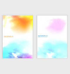 Water color cloud vector