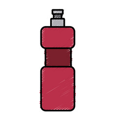 water thermo bottle vector image vector image