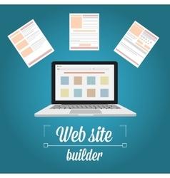 Web site builder template prototyping vector