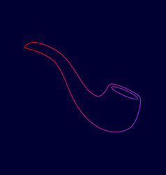 smoke pipe sign line icon with gradient vector image
