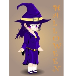 Halloween witch vector image