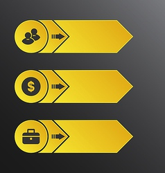 Modern design banners with info graphic business vector