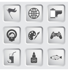 Icons on the buttons for web design set 7 vector