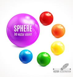 3d sphere object vector