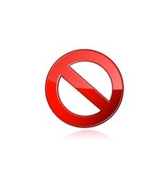 Interdiction sign vector