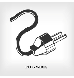 Power plug wire vector