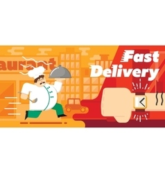 Food fast delivery design vector