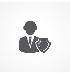 Insurance Agent Icon vector image