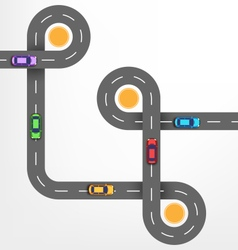 Road infographic background with cars vector
