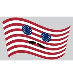 Patriotic usa icon with mustaches vector