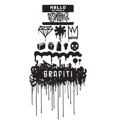 Graffiti iqons element vector