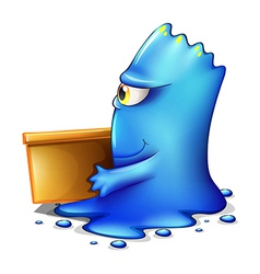 A blue monster moving out vector
