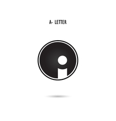 A-letter abstract logo vector image