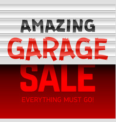 Amazing garage sale poster template vector