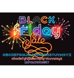 Black friday sale lettering vector