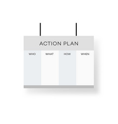 business action plan on the projector screen vector image