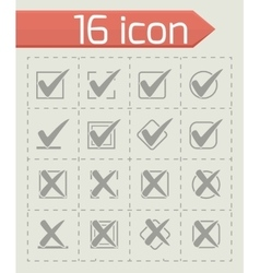 Check marks icon set vector