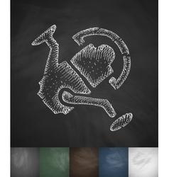 Coil icon hand drawn vector