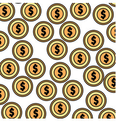 Coins money pattern background vector