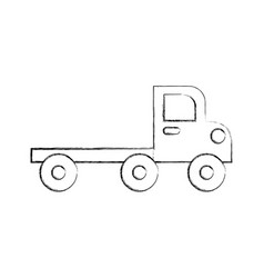construction vehicle isolated icon vector image