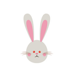 Cute easter bunny face funny vector