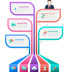 design of infographic Abstract chart vector image vector image