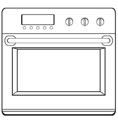 Doodle oven vector image