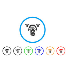 drone payment rounded icon vector image vector image