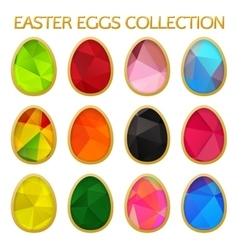 Easter Colorful Eggs Collection Set Easter Eggs vector image