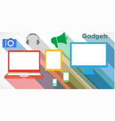gadgets vector image vector image