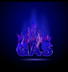 gas burning fire vector image