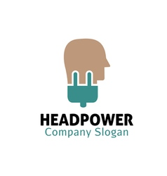 Head Power Design vector image