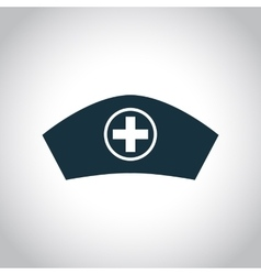 Hospital nurse head icon vector image