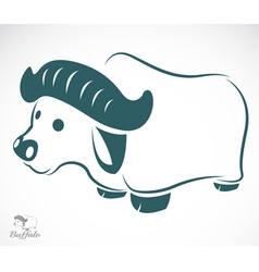 image of an buffalo vector image