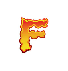 Letter f fire flames font lettering tattoo vector