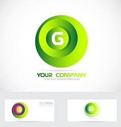 Letter g sphere logo vector