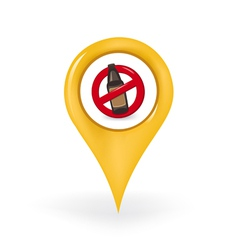 No Drinking Location vector image