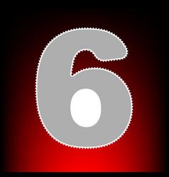 Number 6 sign design template element postage vector